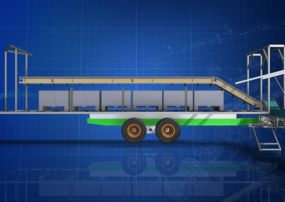 Conveyor for Melon Picking Trailer